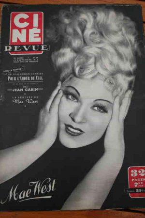50 Mae West Pierre Fresnay Claudette Colbert Lex Barker