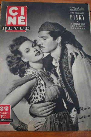 1950 Maureen O'Hara Alan Ladd Doris Day Jeanne Crain
