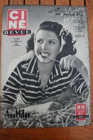 1950 Ann Miller Maria Montez Marilyn Monroe Myrna Loy