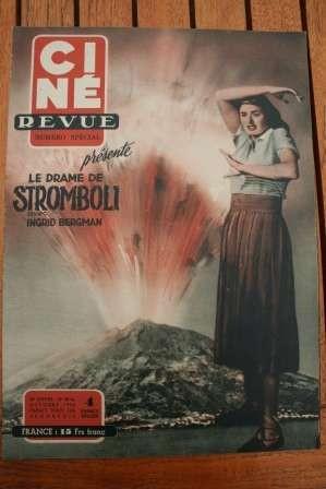 1950 Vintage Magazine Ingrid Bergman Stromboli