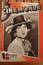 Magazine 1929 Fay Wray von Stroheim Marcel Lherbier Dorothy Sebastian