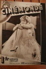Magazine 1929 Anita Page Fritz Lang Phyllis Crane Nils Asther Maurice Chevalier