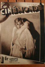 Magazine 1929 Danielle Parola Constance Talmadge George Bancroft Raquel Torres