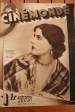 Magazine 1929 Marcella Albani Rene Clair Mont Cervin Joseph Schildkraut
