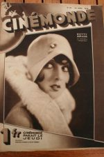 Magazine 1929 Betty Amann Joan Of Arc Bebe Daniels Himansu Rai Joyce Murray