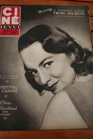 Olivia De Havilland Georges Guetary Ruth Roman Cannes