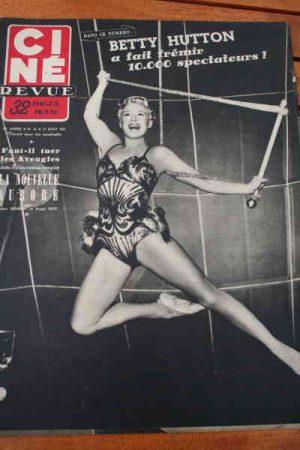 1951 Betty Hutton Nadia Gray Mitzi Gaynor Julia Adams