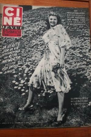 1951 Rita Hayworth Ingrid Bergman Ava Gardner Lassie