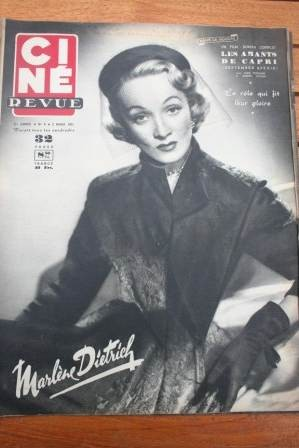 1951 Marlene Dietrich Mark Stevens James Stewart Harvey