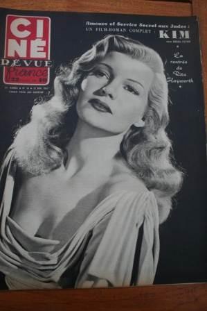 Rita Hayworth Nicole Courcel Errol Flynn Alec Guinness