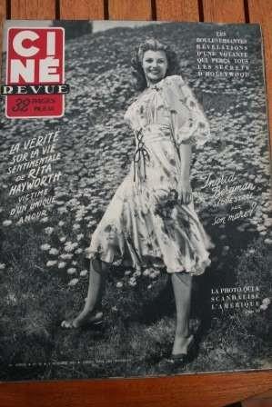 1951 Rita Hayworth Ingrid Bergman Ava Gardner Show Boat