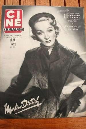 1951 Marlene Dietrich Mark Stevens James Stewart Cotten