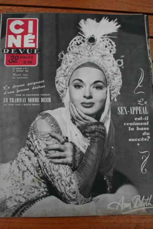 1952 Ann Blyth Vivien Leigh Marlon Brando Robert Taylor