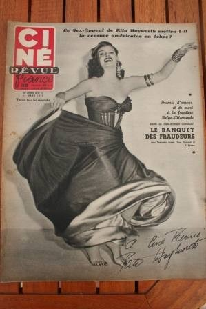 1952 Rita Hayworth Signoret Serge Reggiani Jose Ferrer