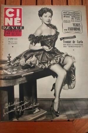 1952 Yvonne De Carlo Jane Wyman Van Johnson Toumanova