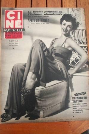 52 Liz Taylor Marilyn Monroe John Lund Yvonne De Carlo