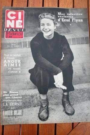 1952 Anouk Aimee Errol Flynn Jane Wyman Evelyn Keyes