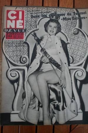 1952 Miss Universe Alan Ladd Tony Curtis Susan Hayward
