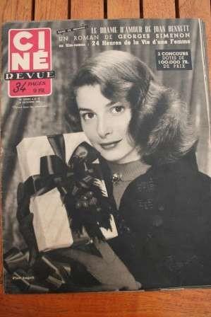 1952 Pier Angeli Joan Bennett Doris Day Merle Oberon