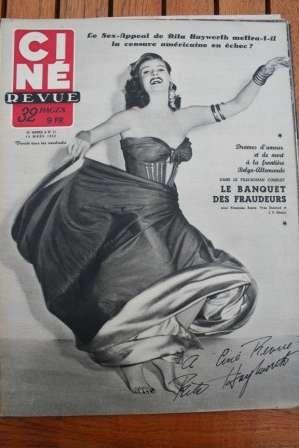 1952 Rita Hayworth Jose Ferrer Reggiani Simone Signoret