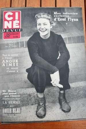1952 Anouk Aimee Errol Flynn Evelyn Keyes Jane Wyman