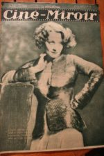 Magazine 1931 Marlene Dietrich Charles Chaplin The Fireman Jean Weber