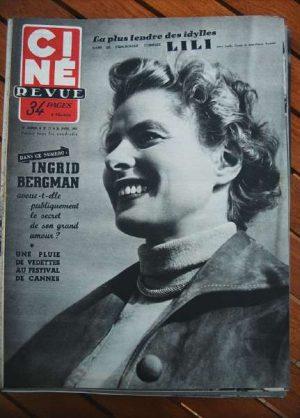 Ingrid Bergman Festival Cannes Leslie Caron Mel Ferrer