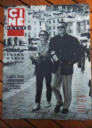 1953 Clark Gable Liz Taylor Yves Montand Farley Granger