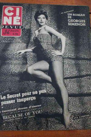 1953 Ava Gardner Serge Reggiani Sabu Loretta Young