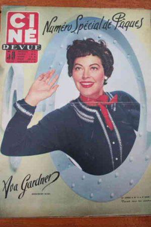 1953 Ava Gardner Errol Flynn Martine Carol Hitchcock