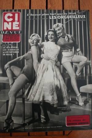 53 Marilyn Monroe Lauren Bacall Betty Grable Van Heflin