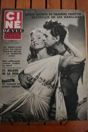 1953 Rita Hayworth Stewart Granger Yves Montand Heston