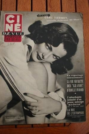 1953 Gene Tierney Alan Ladd Marilyn Monroe Jacques Tati