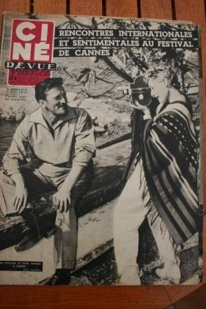 1953 Kirk Douglas Cannes Lana Turner Montgomery Clift