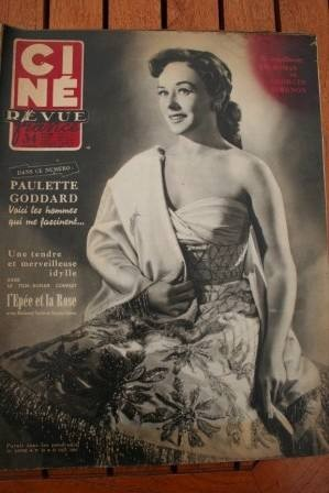 53 Paulette Goddard Bing Crosby Montgomery Clift Sernas