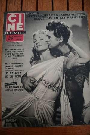 Rita Hayworth Stewart Granger Charlton Heston Montand