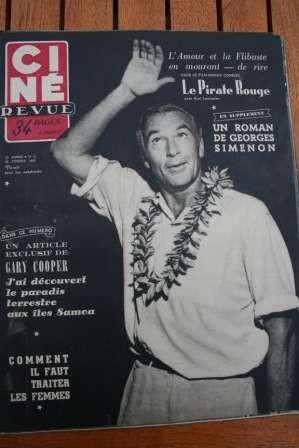 1953 Gary Cooper Lucille Ball Burt Lancaster Eva Bartok