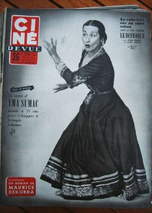1954 Yma Sumac Jean Marais Jean Cocteau Henri Salvador