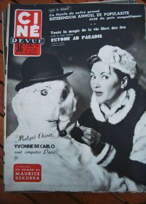 54 Yvonne De Carlo Robert Mitchum Susan Hayward Guitry