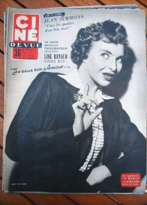 54 Line Renaud Jean Simmons Gregory Peck Audrey Hepburn
