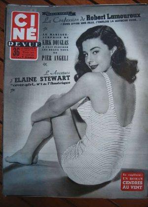 54 Elaine Stewart Bogart Gina Lollobrigida Kirk Douglas
