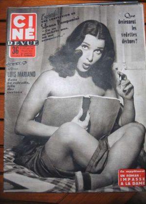 1954 Pampanini Errol Flynn Grace Kelly Brigitte Bardot