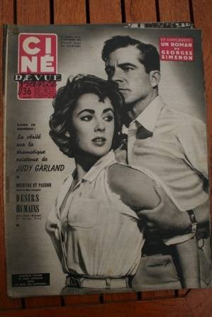 1954 Liz Taylor Dana Andrews Judy Garland Jean Marais
