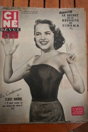 1954 Terry Moore Cyd Charisse Phantom In the Rue Morgue