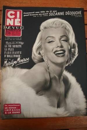 1954 Marilyn Monroe Eddie Constantine Robert Taylor