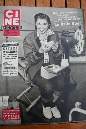 1954 Marilyn Monroe Esther Williams Maria Felix Otero