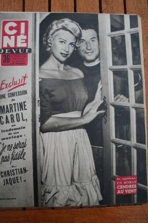 1954 Martine Carol Pinocchio Gary Cooper Joan Crawford