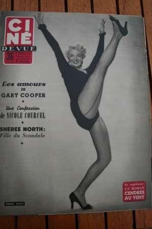1954 Sheree North Lana Turner Gary Cooper Susan Hayward