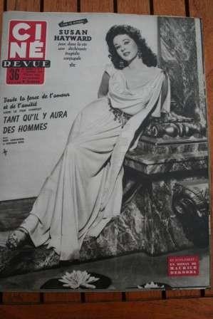 1954 Mag Susan Hayward John Barrymore Montgomery Clift