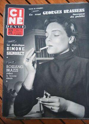 1955 Signoret Brassens Rossano Brazzi Reagan John Wayne